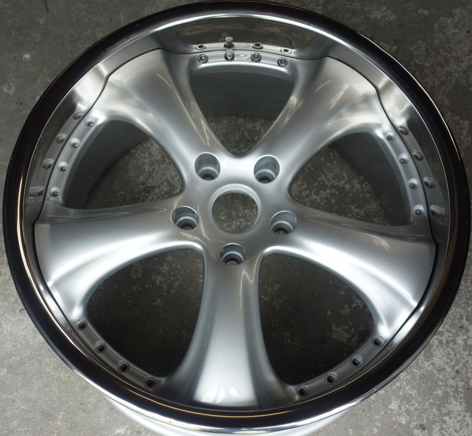 White Honda Civic >> Split Khan rims refurbished and new concealed type valve ...